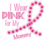 I Wear Pink My Mom Mother Mommy