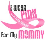 I Wear Pink Ribbon My Mother Mom Mommy Grunge