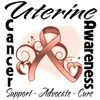 Uterine Cancer Peach Ribbon