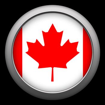 Round Flag - Canada