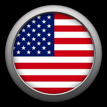 Round Flag - USA
