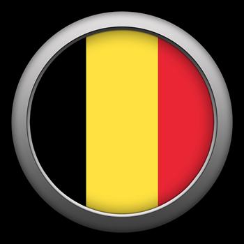Round Flag - Belgium