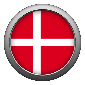 Round Flag - Denmark