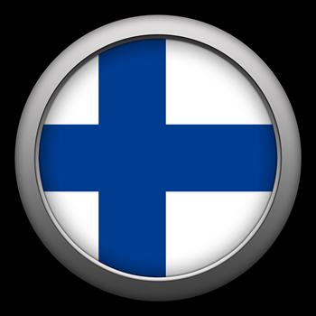 Round Flag - Finland