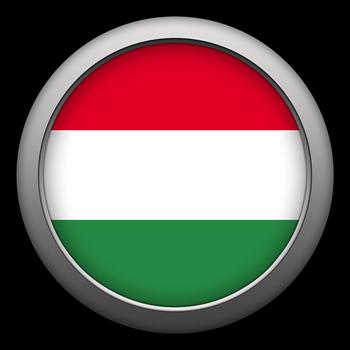 Round Flag - Hungary