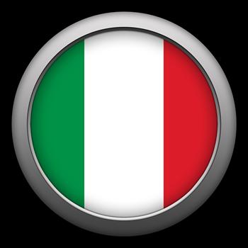 Round Flag - Italy