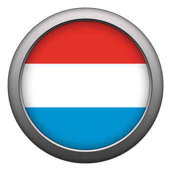 Round Flag - Luxembourg