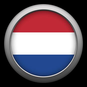 Round Flag - Netherlands