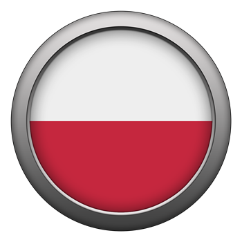 Round Flag - Poland