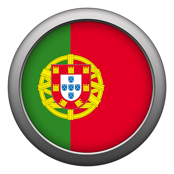Round Flag - Portugal