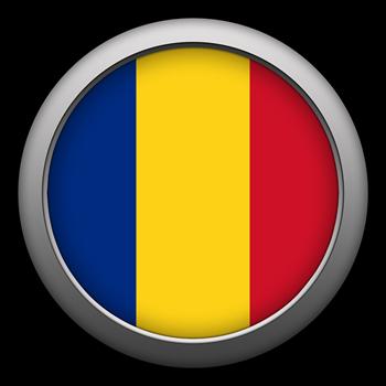 Round Flag - Romania