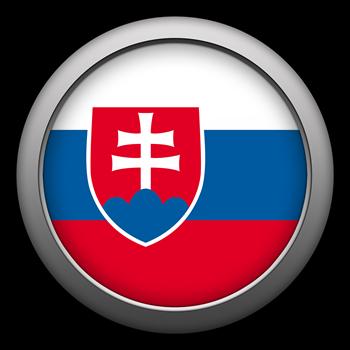 Round Flag - Slovakia