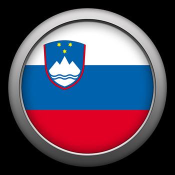 Round Flag - Slovenia