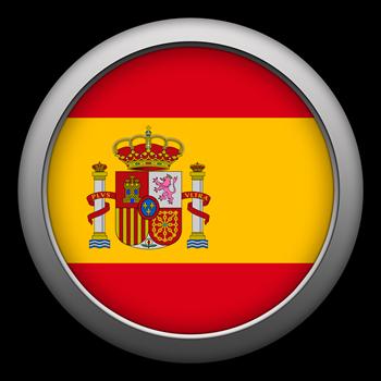 Round Flag - Spain