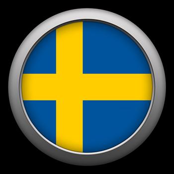 Round Flag - Sweden