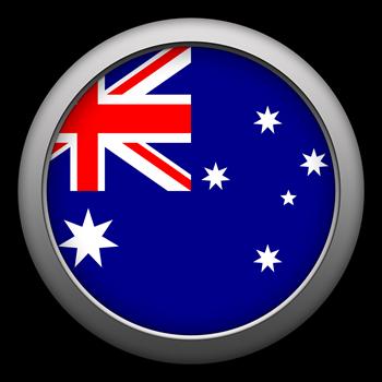 Round Flag - Australia