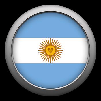 Round Flag - Argentina