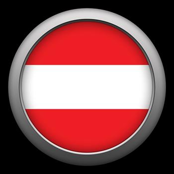 Round Flag - Austria