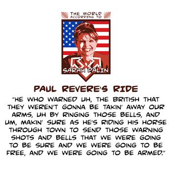 The World According to Sarah Palin - Paul Revere's