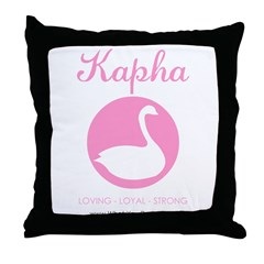 Kapha swan Throw Pillow