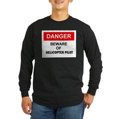 Beware/ Go Vertical Helicopter Ash Grey Long Sleeve Dark T-Shirt