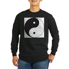 Ying Yang Yoga Long Sleeve Dark T-Shirt