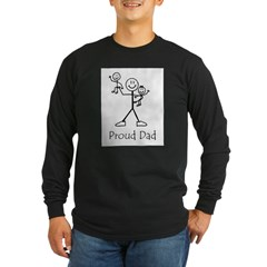 Proud Dad Ash Grey Long Sleeve Dark T-Shirt