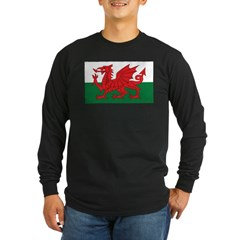 Wales Fla Long Sleeve Dark T-Shirt