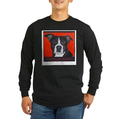 Pit Bulls Rock Long Sleeve Dark T-Shirt