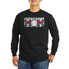 Baseball Mom Long Sleeve Dark T-Shirt
