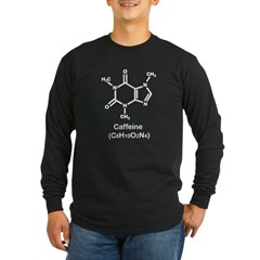 Caffiene - Black Long Sleeve Dark T-Shirt