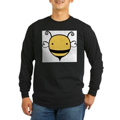 Cute Bee Long Sleeve Dark T-Shirt