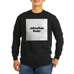 Johnathan Rocks Long Sleeve Dark T-Shirt