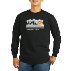 Del Boca Vista Black Long Sleeve Dark T-Shirt
