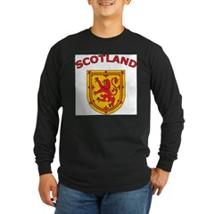 Scotland Ash Grey Long Sleeve Dark T-Shirt