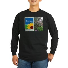 Eye on Gardening Tropical Plants Long Sleeve Dark T-Shirt