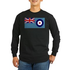 UK's RAF Flag Shoppe Ash Grey Long Sleeve Dark T-Shirt