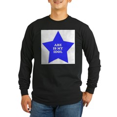 Abe Is My Idol Ash Grey Long Sleeve Dark T-Shirt