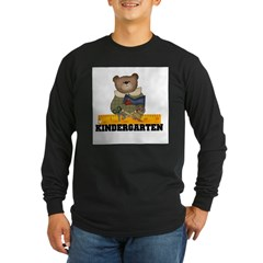 Bear Kindergarten Long Sleeve Dark T-Shirt