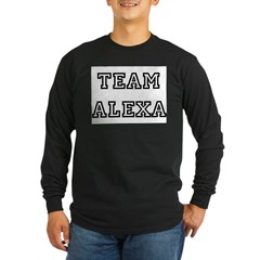 TEAM ALEXA Ash Grey Long Sleeve Dark T-Shirt