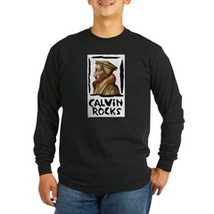Calvin Rocks Long Sleeve Dark T-Shirt