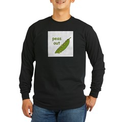 Peas Out... Peace Out! Long Sleeve Dark T-Shirt