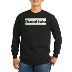 Financial Genius Long Sleeve Dark T-Shirt