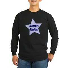 Javon Rules Long Sleeve Dark T-Shirt