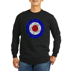Sixties Mod Emblem Long Sleeve Dark T-Shirt