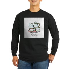 Wild Tea Parties Long Sleeve Dark T-Shirt
