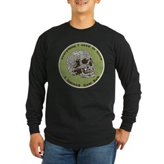 Bobs Skull Long Sleeve Dark T-Shirt