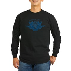 TRIBAL SCOTTISH Long Sleeve Dark T-Shirt