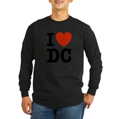 I Love DC Long Sleeve Dark T-Shirt