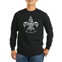 Fleur de Mor Long Sleeve Dark T-Shirt